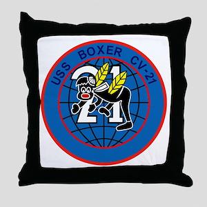 CV-21 USS BOXER Multi-Purpose Aircraf Throw Pillow