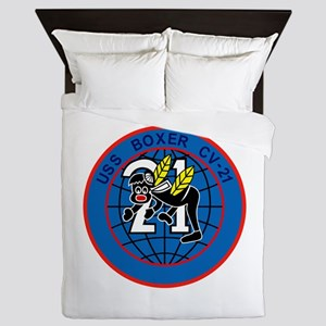 CV-21 USS BOXER Multi-Purpose Aircraft Queen Duvet