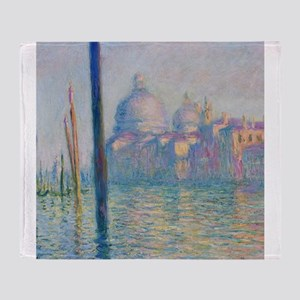 Grand Canal Venice Monet Painting Throw Blanket
