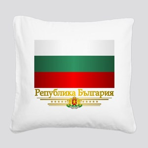 Flag of Bulgaria Square Canvas Pillow