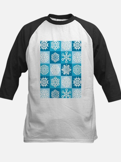 Checkered Snowflakes Baseball Jersey