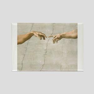 Creation of Adam Fingers Sistine Michelangelo Magn