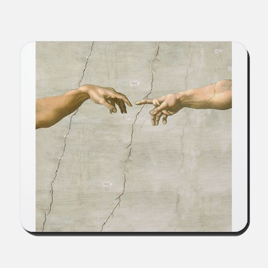 Creation of Adam Fingers Sistine Michelangelo Mous