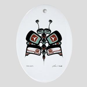 Tléiloo (Moth) Oval Ornament