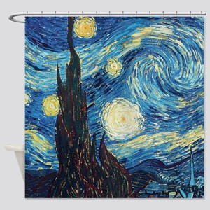 Starry Night Van Gogh Impressionist Painting Showe