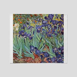 Van Gogh Purple Iris Colorful Floral Painting Thro