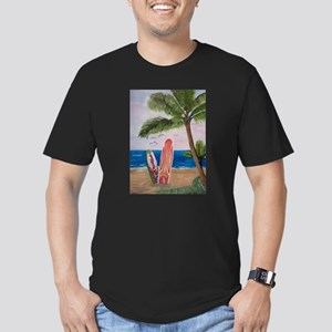 Caribbean beach with Surf Boards T-Shirt