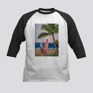 Caribbean beach with Surf Boards Baseball Jersey