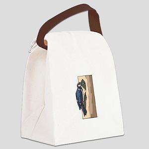 woodpecker Canvas Lunch Bag