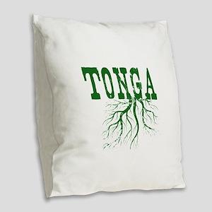 Tonga Roots Burlap Throw Pillow