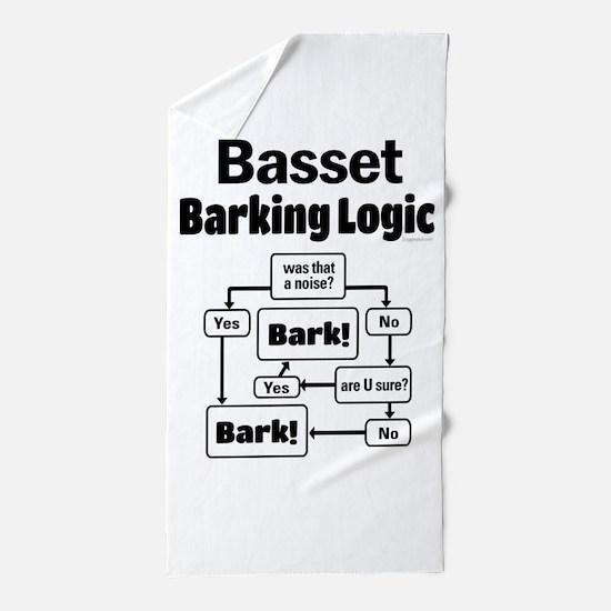 Basset Logic Beach Towel