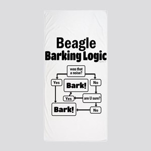 Beagle Logic Beach Towel