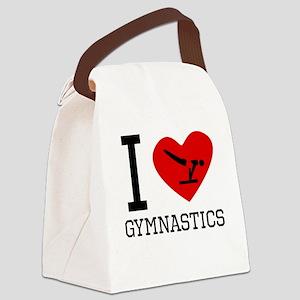 I Heart Gymnastics Canvas Lunch Bag