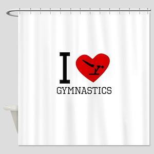 I Heart Gymnastics Shower Curtain