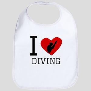 I Heart Diving Bib