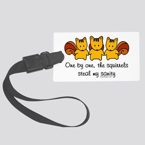One by One The Squirrels Large Luggage Tag