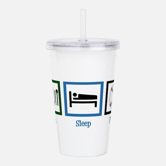 Eat Sleep Baseball Acrylic Double-wall Tumbler