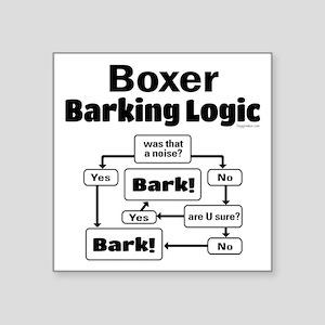 "Boxer Logic Square Sticker 3"" x 3"""