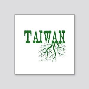 "Taiwan Roots Square Sticker 3"" x 3"""