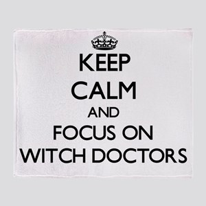 Keep Calm by focusing on Witch Docto Throw Blanket