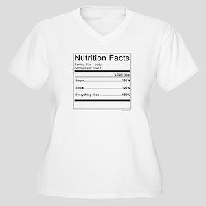 Girl Nutrition Women's Plus Size V-Neck T-Shirt