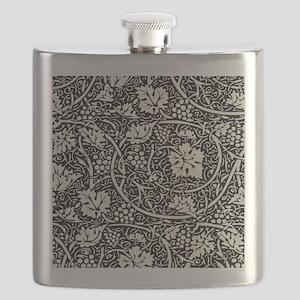 Grape Pattern Vintage Floral Wallpaper Flask