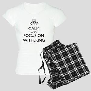 Keep Calm by focusing on Wi Women's Light Pajamas