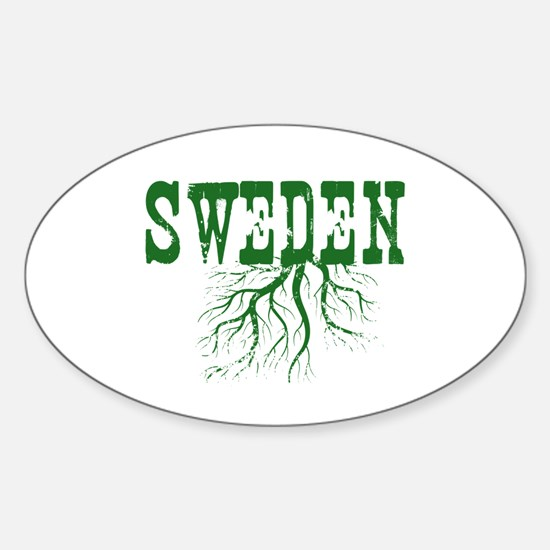 Sweden Roots Sticker (Oval)