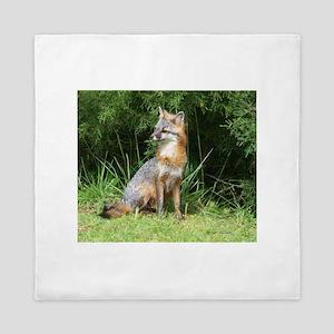 INQUSITIVE FOX Queen Duvet
