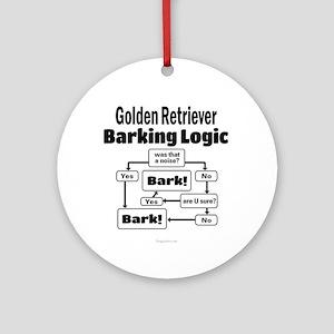Golden Retriever Logic Ornament (Round)