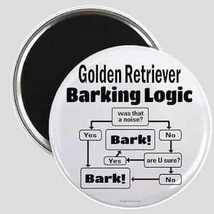 Golden Retriever Logic Magnet