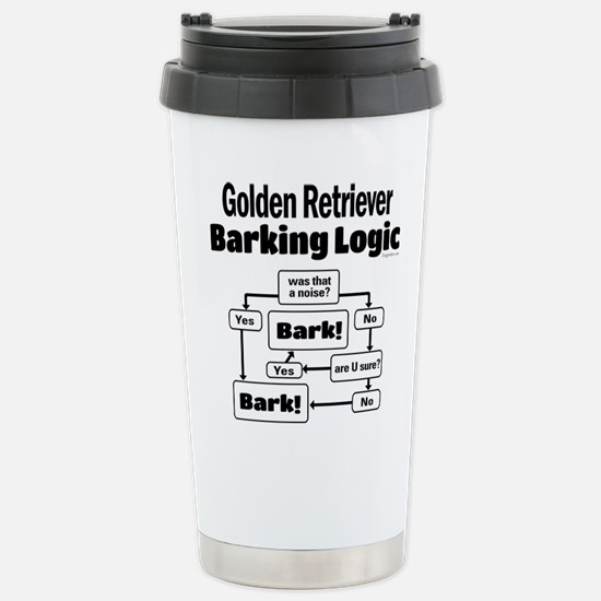 Golden Retriever Logic Stainless Steel Travel Mug
