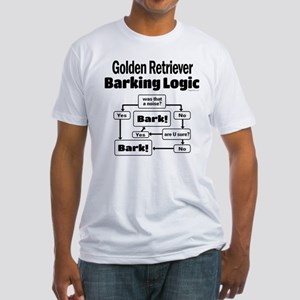 Golden Retriever Logic Fitted T-Shirt