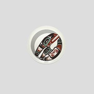 Killer Whale Crescent Mini Button (10 pack)