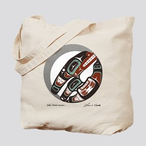 Killer Whale Crescent Tote Bag