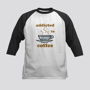 Addicted To Coffee Kids Baseball Jersey