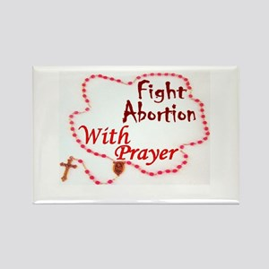 Pray Rosary Fight Abortion Magnets