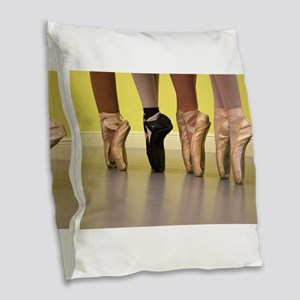 Ballet Dancers on Pointe or on Burlap Throw Pillow
