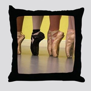 Ballet Dancers on Pointe or on Toes Throw Pillow