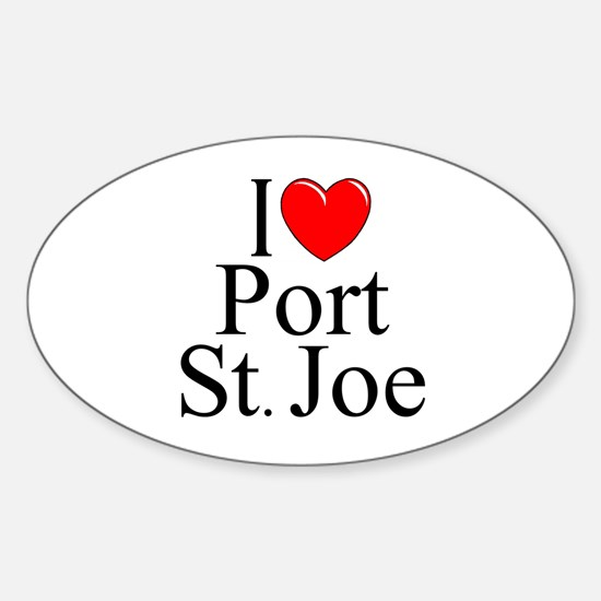 """I Love Port St. Joe"" Oval Decal"