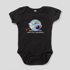 stork baby NZ white 2 Baby Bodysuit
