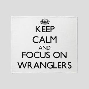 Keep Calm by focusing on Wranglers Throw Blanket