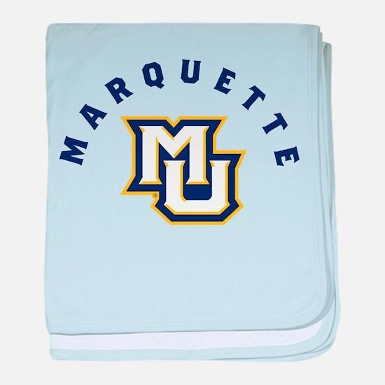 Marquette Golden Eagles MU baby blanket