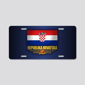 Flag of Croatia Aluminum License Plate