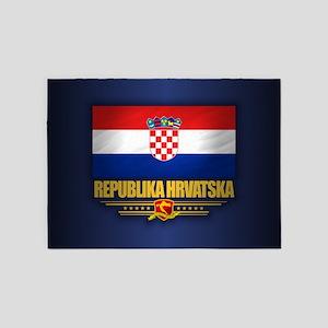 Flag of Croatia 5'x7'Area Rug