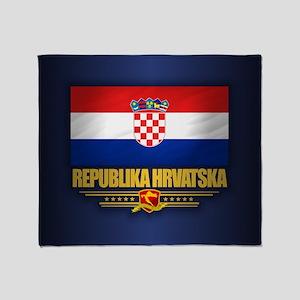 Flag of Croatia Throw Blanket