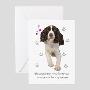English Springer Spaniel Greeting C Greeting Cards