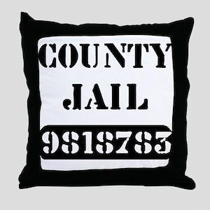 Jail Inmate Number 9818783 Throw Pillow