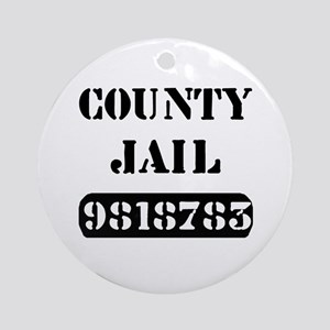 Jail Inmate Number 9818783 Ornament (Round)