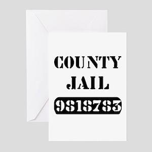 Jail Inmate Number 9818783 Greeting Cards (Package